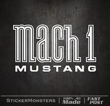 MACH1 FORD MUSTANG FENDER Sticker Decal 150mmW V8 Pony 351 Mach1 Cool