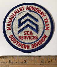 Vintage SCA Services Waste Management Advisory Team Southern Division Patch