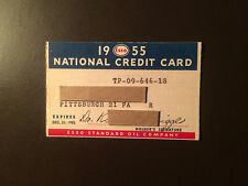 Esso Standard Oil Company 1955 Vintage Collectors Credit Card - Pittsburgh, Pa