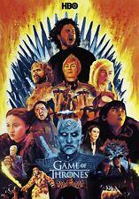 Game of Thrones Art Poster Season 1 2 3 4 5 6 7 8 - NEW - 11x17 13x19