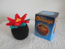 TERRYS CHOCOLATE ORANGE COVER x 1 Poinsetta Flower Hand Knit Novelty