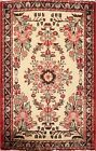 Excellent IVORY 2'x3' Lilihan Hamedan Floral Area Rug Hand-knotted Oriental Wool