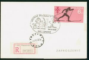 MayfairStamps Poland 1979 Cross Country Skiing Cover wwp80119