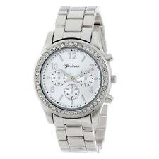 Fashion Women's Crystal Luxury Stainless Steel Wrist Watch Classy Ladies Watch