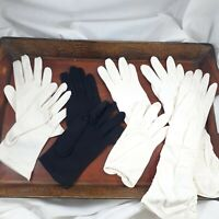 Vintage Gloves 4 Sets size 6 1/2 glove white black short long ladies retro women