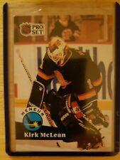 1992-93 Pro Set Canada MENEUR/LEADER Kirk McLean Vancouver Canucks Card #603
