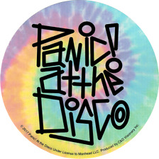 5606 Panic at the Disco Tie Dye Rainbow Logo Rock Emo Round Sticker / Decal