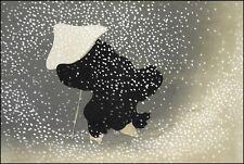 Japanese Print Reproduction: Snow by Kamisaka Sekka, 1909 - Fine Art Print