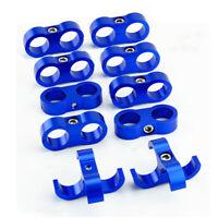 10X 10AN Hose Separator Clamp Billet Hose Clamps Fitting for Oil/Fuel Hose/Line