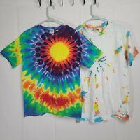 2 Tye Dye Gildan Short Sleeve Size M 100% Cotton