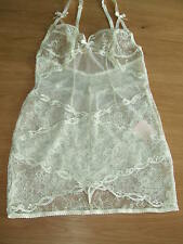 AGENT PROVOCATEUR RARE SOLD OUT CREAM LOVE LACE SLIP SIZE (2) SMALL UK8-10 BNWT