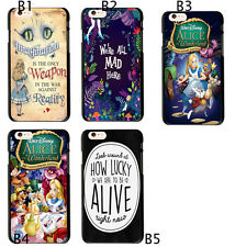 Alice in Wonderland Quotes Soft TPU Case Cover For iphone 6 6S 7 Plus S9 S8+