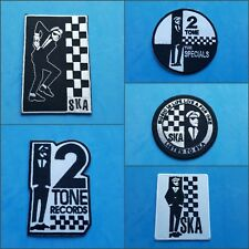 COLLECTION OF FIVE INDIVIDUAL SEW ON / IRON ON PATCHES:- THE SPECIALS SKA 2 TONE