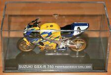 PIER FRANCESCO CHILI SUZUKI GSXR750  2001 1:24 IXO Motorbike - Rare