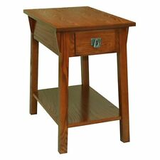 Leick 9059-RS Favorite Finds Mission Chairside Table, Oak, 15 inches