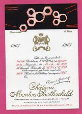 PAUILLAC 1ER GCC ETIQUETTE CHATEAU MOUTON ROTHSCHILD 1967 75 CL     §27/04/17§