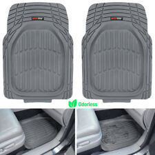 Motor Trend Heavy Duty Mud Trapping Front Rubber Car Floor Mats - Gray