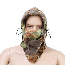 Woodland camouflage Snood Face Guard Fleeced Adjustable Neck Hat Fishing
