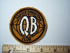 Hardin Downtown QB Quarterback Club Sew On Patch Montana High School Football