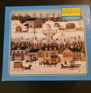 Charles Wysocki Windjammer Canal 1000 Piece Jigsaw Puzzle MB Complete