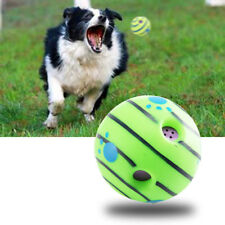 Wobble Wag Giggle Ball Dog Doggy Indoor Outdoor Pet Toy Shaken Rolling Sound AU