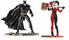 SCHLEICH 22514-JUSTICE LEAGUE BATMAN VS Harley Quinn-DC FIGURE 2-PACK-NUOVO