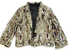 Gold Sequin Blazer  Size 38