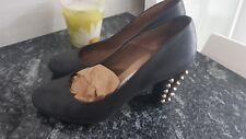 Pedro Miralles zapatos  en piel Rockabilly tachuelas shoes Schuhe chaussures 37