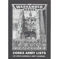 Codex Army Lists (1993) from Warhammer 40,000 2nd edition boxed set Space Marine