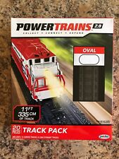 Power Trains 2.0 11' Oval 20 Piece Toy Train Tracks Parts Accessories Set