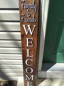 Beautiful Friends and Family WELCOME SIGN Front Porch Decor  Holidays & Seasons
