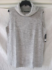 Nic+Zoe Hazy Sleeveless Turtleneck Tunic Sweater- Heather Gray -Size XL NWT $148
