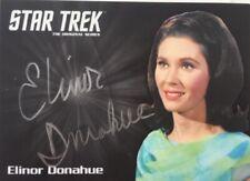 Elinor Donahue Silver Autograph, Star Trek TOS Captain's Collection
