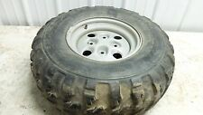 04 Arctic Cat 650 V-2 4x4 FIS atv left rear back wheel rim and tire