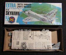 Vintage SKYHAWK A-4E Battle Damage IMC Hawk Model Kit 1/72 Scale Incomplete