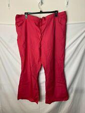 New Nwt Dickies Pink Elastic Waist Scrubs Pants Womens Plus Size 3X Drawstring