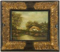 E.V.L. - English School 19th Century Oil, Cottage in a Landscape