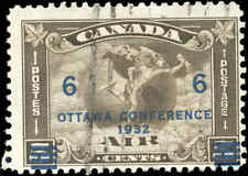 1932 Canada Used F Scott #C4 (C2 Surcharged) Air Mail Issue Stamp