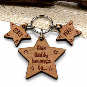 Personalised Gifts for him Keyring, Daddy Belongs To Father's Day Birthday gift