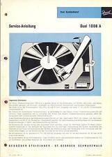 DUAL Service Manual per Phono 1008 a