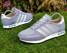 BNWB & Genuine Adidas Originals ® LA Trainer Weave Grey Retro Trainers UK Size 8