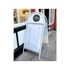 """20"""" x 30"""" Booster A-Board white poster pavement shop sign poster sign dbl sided"""