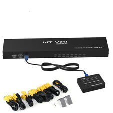 8Port Smart KVM Switch Manual Key Press VGA USB Wired Remote Switcher 1U Console