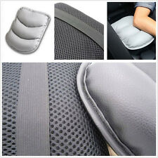 Portable Grey Faux Leather Car Interior Central Armrest Box Soft Pad Cushion Mat