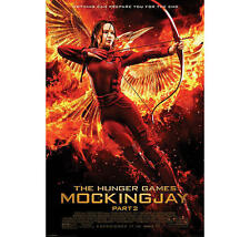 "THE HUNGER GAMES POSTER ""MOCKING JAY PART 2"" COVER ""BRAND NEW"" KATNISS"