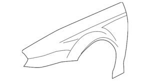 Genuine JAGUAR X TYPE RH O/S FRONT WING C2S23559 (PLEASE SEND REG)