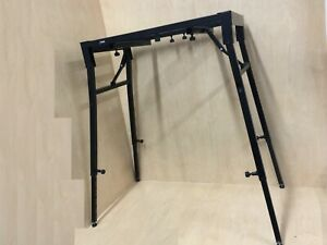 Haze KS041 Metal Structure,Table-Shape Keyboard Stand-Collapsible & Durable. BK