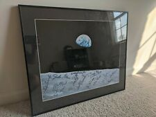 """Framed Picture with Apollo astronaut autographs 24"""" x 21"""""""