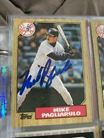 Mike Pagliarulo signed baseball card.  5 card lot