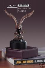 """Bronze Finished Eagle Sculpture Statue 5.5""""W x 7""""H NEW"""